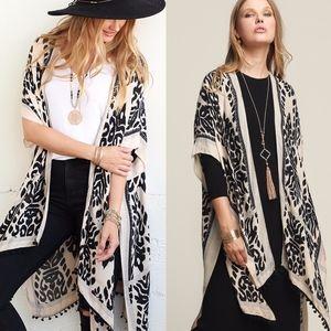 Boho chic Kimono - BLACK